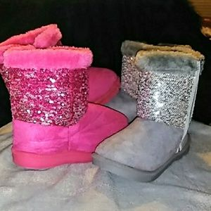 NWT HOT PINK SEQUIN BOOT BE SIZE 2